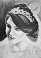 سیاه قلم چهره عروس