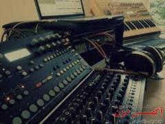 ساخت آهنگ و تنظیم در استدیو