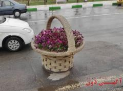 گلدانهای طرح سبدی فایبر گلاس