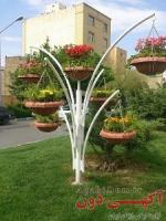 گلدان طرح درختی فایبر گلاس