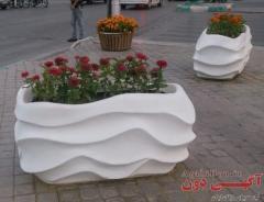 گلدانهای مستطیلی و کلاسیک فایبر گلاس